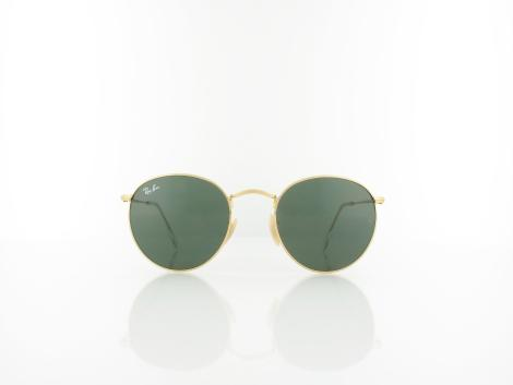 Ray Ban | Round Metal RB3447 001 50 | gold / green