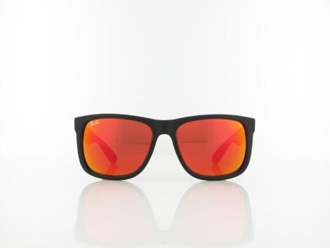 Ray Ban | Justin RB4165 622/6Q 54 | rubber black / brown mirror orange