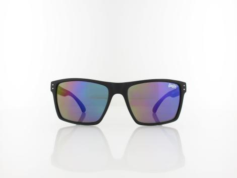 Superdry | Kobe 196 56 | matte black white red / oil slick mirror