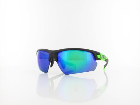 UVEX | Sportstyle 224 S532007 2716 70 | black mat green / mirror green